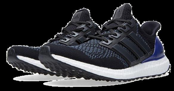 Фото Adidas Ultra Boost 3.0 Черные с Синим - 3